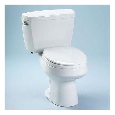 Toto Carusoe 1.6 GPF Round 2 Piece Toilet with Bolt Down Lid