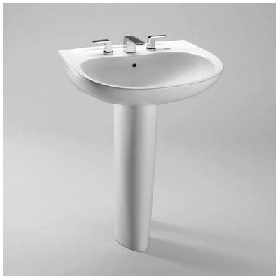 "Prominence 26"" Pedestal Bathroom Sink with Sanagloss Product Photo"