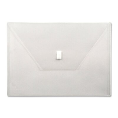 """Lion Office Products Poly Envelope,Hook and Loop Closure,13""""x9-3/8"""", Clear"""