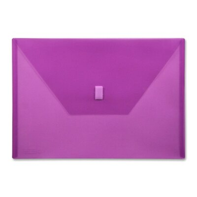 """Lion Office Products Poly Envelope,Hook and Loop Closure,13""""x9-3/8"""", Purple"""