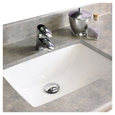 Classic Rectangular Undermount Bathroom Sink with Overflow Product Photo
