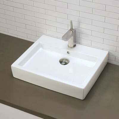 Classically Redefined Rectangular Vessel Bathroom Sink Product Photo