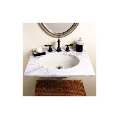 Classic Undermount Bathroom Sink with Overflow Product Photo