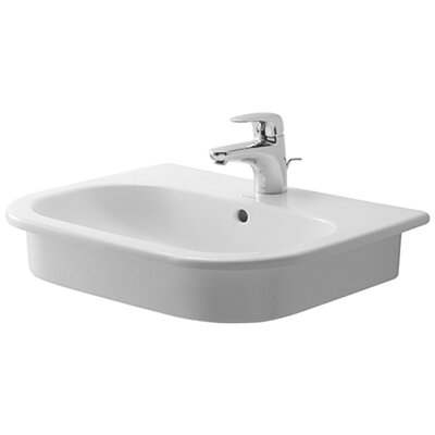 D-Code Bathroom Sink with Overflow by Duravit