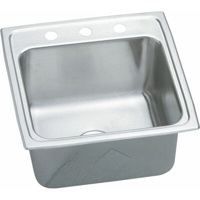 """Elkay Gourmet 19.5"""" x 19"""" Top Mount Kitchen Sink with Quick-Clip® Mounting System"""