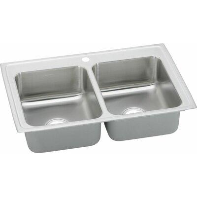 """Elkay Gourmet 23"""" x 17"""" Top Mount Kitchen Sink"""