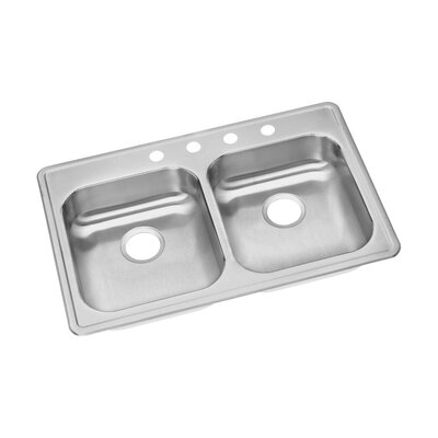 "Elkay Dayton 33"" x 21.25"" Double Bowl Kitchen Sink"