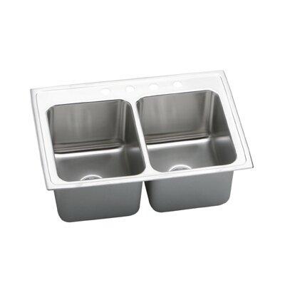 """Elkay Gourmet 33"""" x 22"""" x 12.13"""" Top Mount Kitchen Sink"""