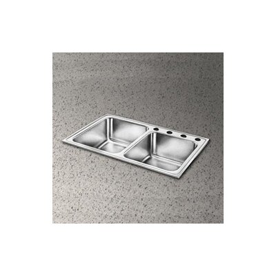 "Elkay Pacemaker 33"" x 22"" Double Bowl Kitchen Sink"