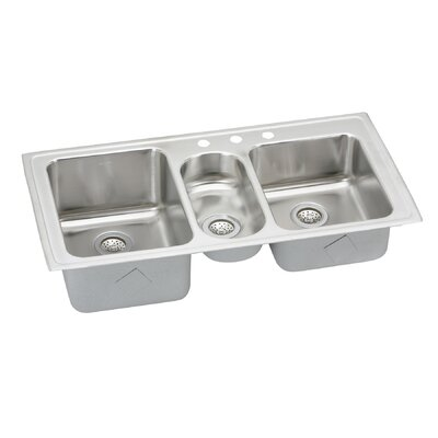 43 x 22 kitchen sink elkay gourmet 43 quot x 22 quot self 3 bowl 7359