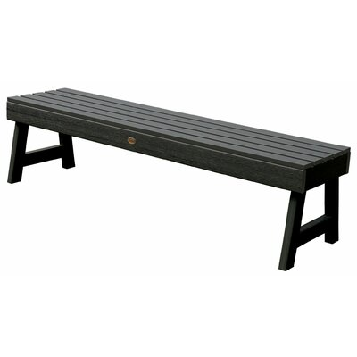 Highwood USA Weatherly Backless Synthetic Wood Picnic Bench
