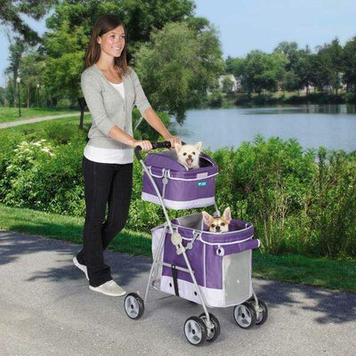 Double Decker Standard Pet Stroller by Guardian Gear