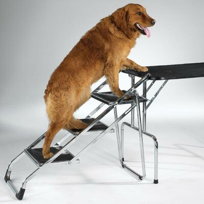Master Equipment Non-Skid 3 Step Pet Stair for Grooming Table and SUV's