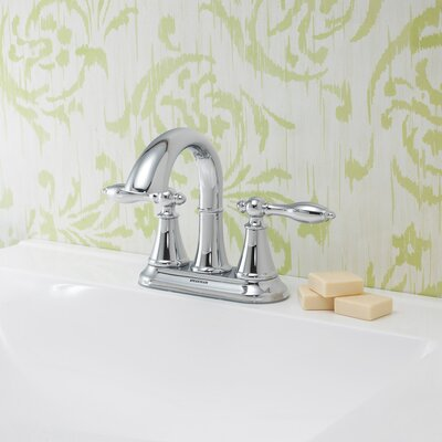 Lacey Double Handle Centerset Bathroom Faucet with Pop-Up Drain by Speakman