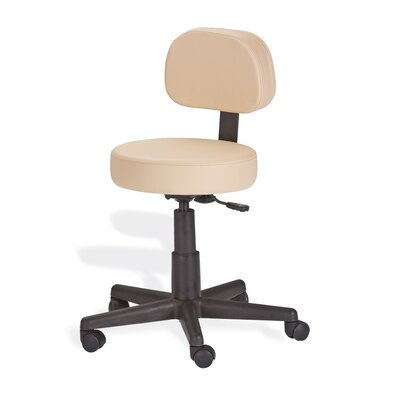 Mid-Back Height Adjustable Rolling Drafting Chair by EarthLite