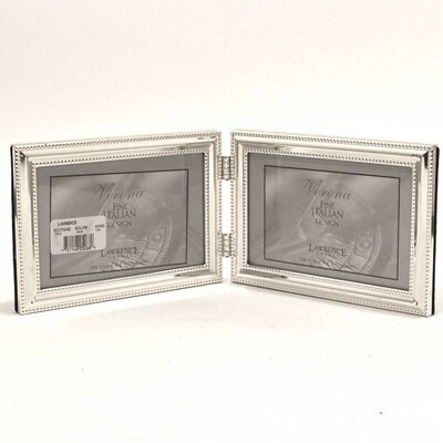 Beading Hinged Double Horizontal Picture Frame by Lawrence Frames