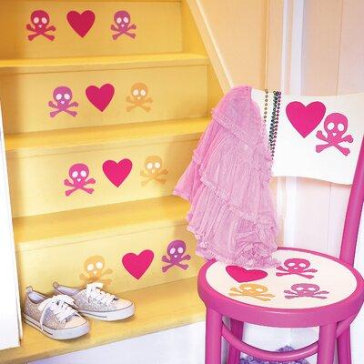 Wallies Candy Skulls Wall Decal