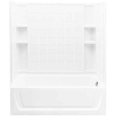 "Ensemble™ 60"" x 32"" x 74"" Tile Bath/Shower Back Wall Product Photo"