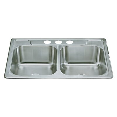 "Sterling by Kohler Middleton 33"" x 22"" Self Rimming Double Bowl Kitchen Sink"