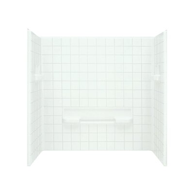 "Advantage 60"" Seated Shower Wall Set Kit with Age-in-Place Backers Product Photo"