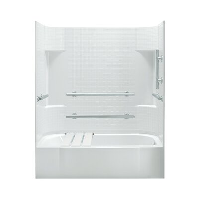 "Accord 74.25"" ADA Bath/Shower Kit with Right Hand Drain Product Photo"