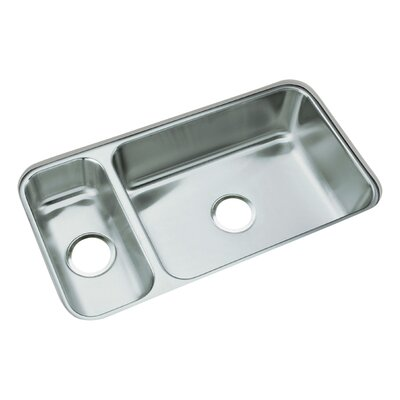 """Sterling by Kohler 31.75"""" x 17.5"""" No Holes Undermount Double Bowl Kitchen Sink"""