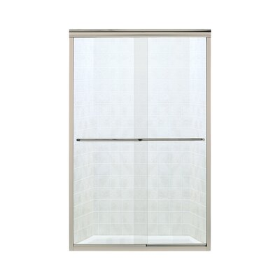 """Finesse 70.06"""" x 47.63"""" Sliding Frameless Shower Door with Clear Glass Product Photo"""