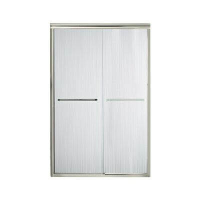 """Finesse 70.06"""" x 47.63"""" Sliding Frameless Shower Door with Grafite Glass Product Photo"""