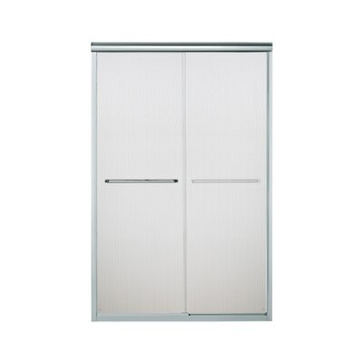 """Finesse 70.06"""" x 47.63"""" Sliding Frameless Shower Door with Boxwood Glass Product Photo"""