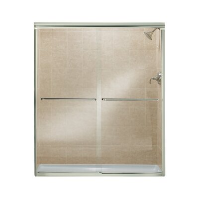 "Finesse 70.06"" x 59.63"" Sliding Frameless Shower Door Product Photo"