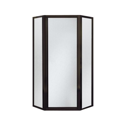 "Intrigue 72"" x 27.56"" Neo-Angle Shower Door with Rain Glass Product Photo"
