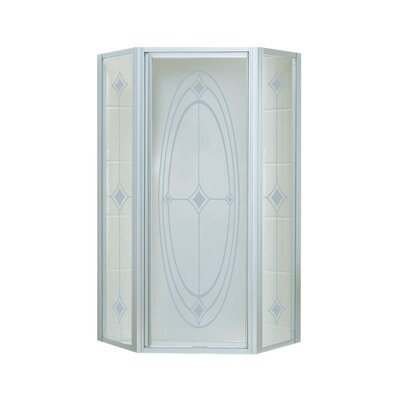 """Intrigue 72"""" x 27.56"""" Neo-Angle Shower Door with Ellipse Glass Product Photo"""