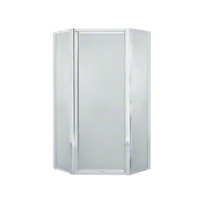 "Intrigue 72"" x 39"" Neo-Angle Shower Door with Pebbled Glass Product Photo"