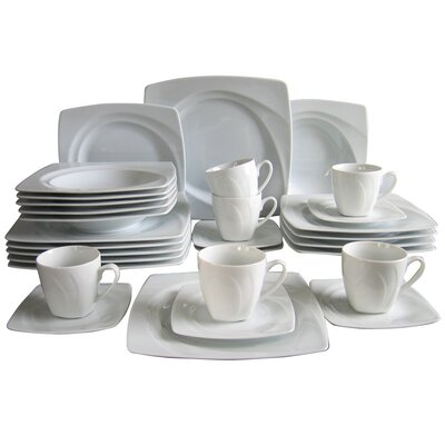 Creatable Celebration 30 Piece Porcelain Dinnerware Set