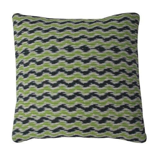 Quality Throw Pillows : Quilted Ikat Cotton Throw Pillow Wayfair