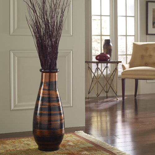 Polivaz Copperworks Round Floor Vase Amp Reviews Wayfair