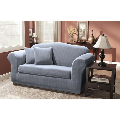 Sure Fit Stretch Pinstripe Two Piece Sofa Slipcover Reviews
