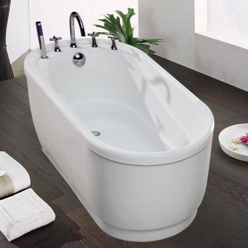 Purescape 47 Quot X 30 Quot Freestanding Acrylic Bathtub Wayfair