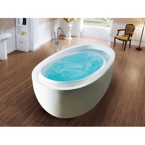 Purescape acrylic 70 8 x 37 8 freestanding bathtub wayfair for Garden tub vs standard tub