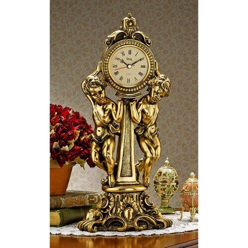 Design Toscano Amboise Twin Cherubs Mantle Clock Amp Reviews