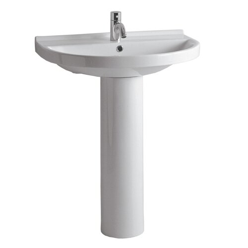 China Pedestal with U-shaped Bathroom Sink by Whitehaus Collection