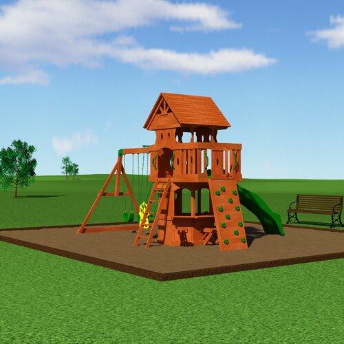 backyard discovery woodland all cedar swing set reviews wayfair