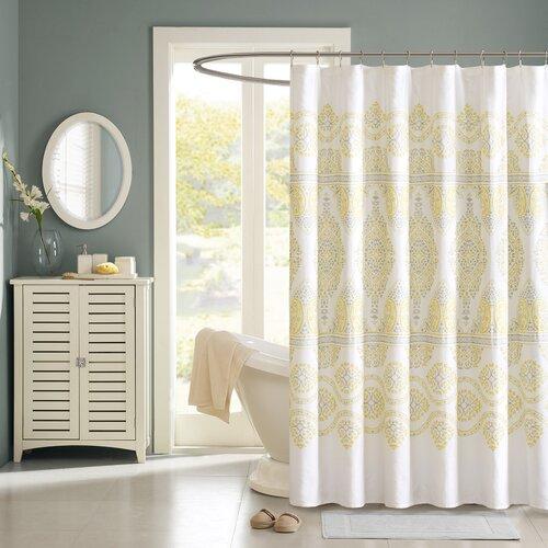 Madison Park Cotton Libreto Shower Curtain