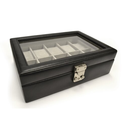 Luxury 10 Slot Watch Jewelry Box in Genuine Leather by Royce Leather