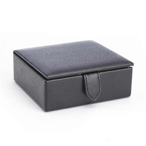 Suede Lined Travel Cufflink Box by Royce Leather