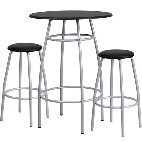 "Flash Furniture 3 Piece 42"" Pub Table & Stool Set"