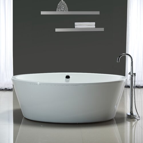 ove decors marilyn 67 x 43 soaking bathtub reviews wayfair. Black Bedroom Furniture Sets. Home Design Ideas