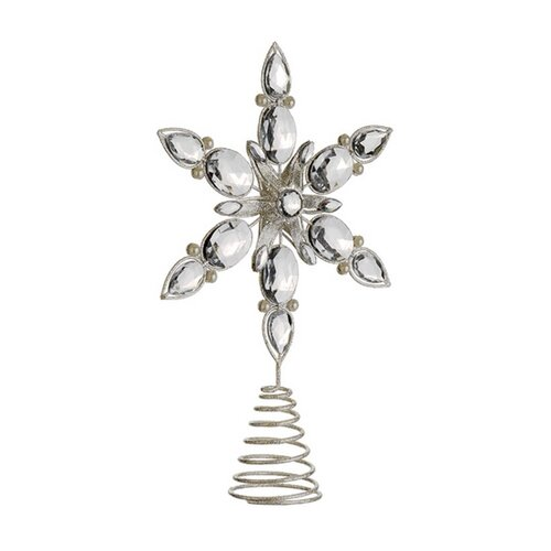 Shimmer Glittered Snowflake Christmas Tree Topper by Tori Home
