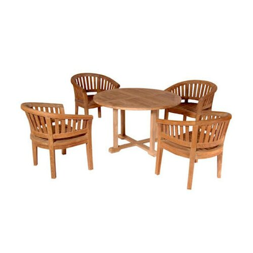 Tosca 5 Piece Dining Table Set By Anderson Teak