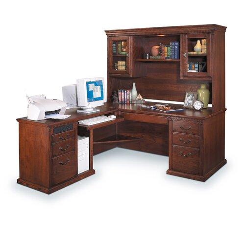 Martin Home Furnishings Huntington Oxford L Shape Desk